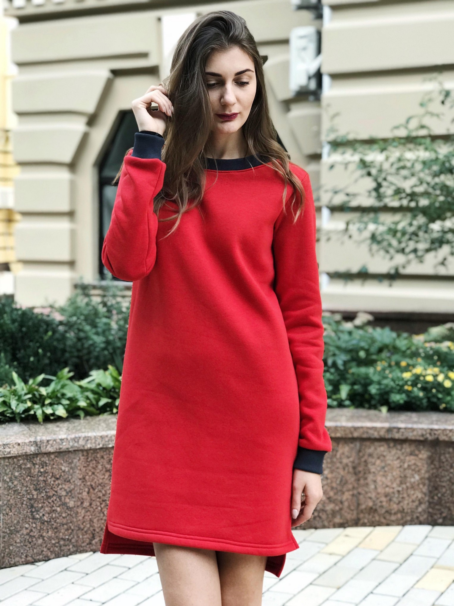 0e9cf7428d483d сукня червона з манжетами 1223 - купити за найкращими цінами в Києві ...