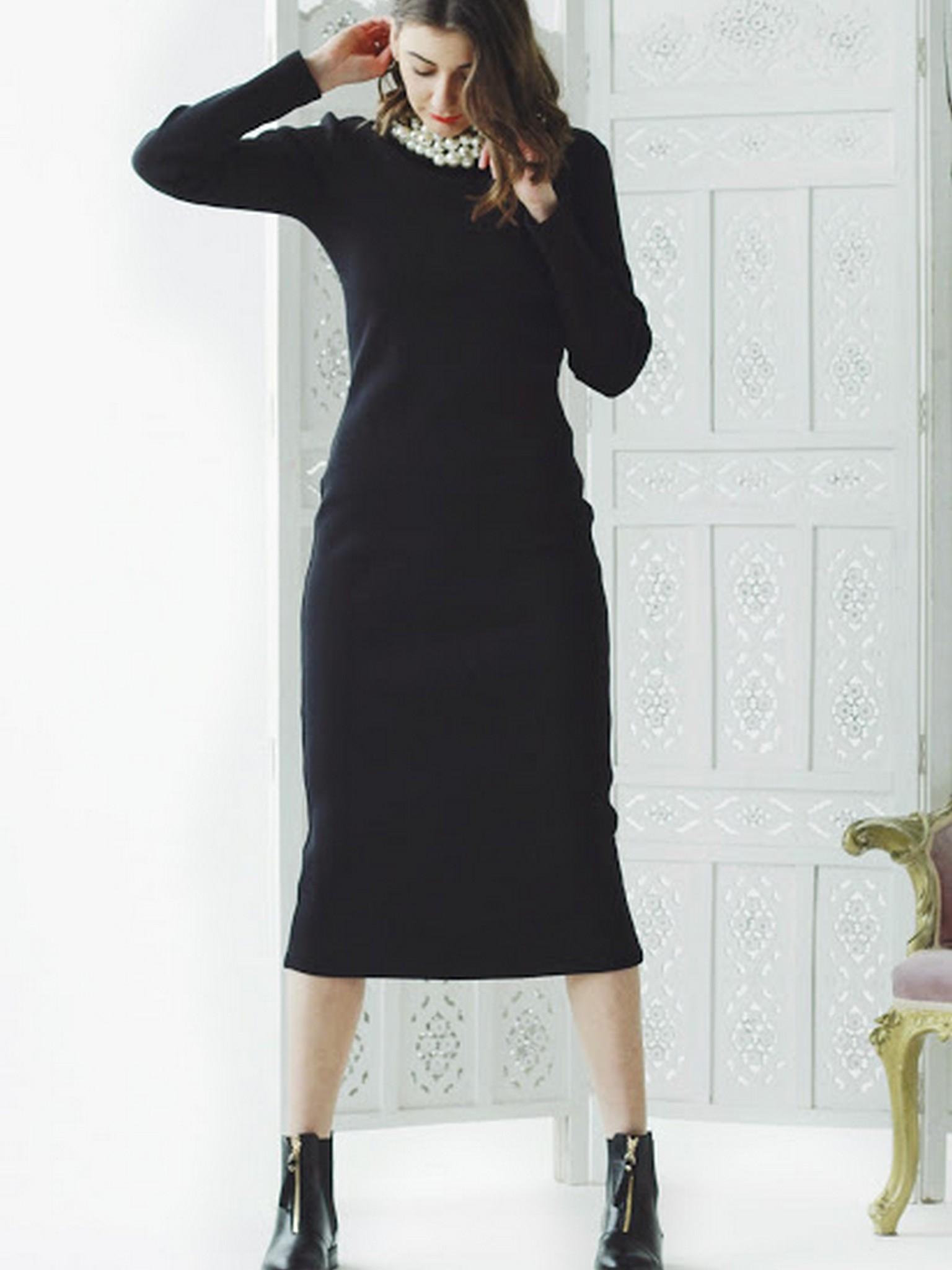 112bb4c9763 платье - чулок черное 1286 - купить по лучшим ценам в Киеве