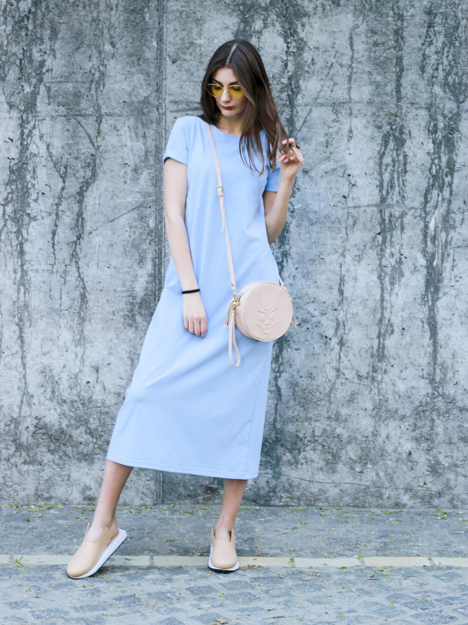 66882ad4fcd платье-футболка голубое миди 1138 - купить по лучшим ценам в Киеве ...